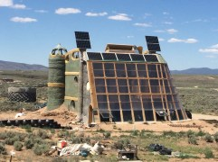 We visited the Earthships, which are fully sustainable homes that are completely off the grid.