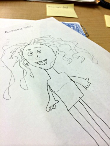 A student captured the craziness of the first day.