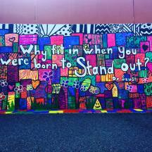 My students created our school's first mural!