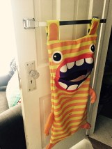 Thanks to my mom, Ollie actually has a monster in her closet. LOVE this laundry hamper.