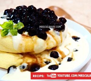 Fluffy boba Pancake by Mrs Culinary