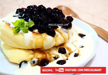 Fluffy boba Pancake by Mrs Culinary