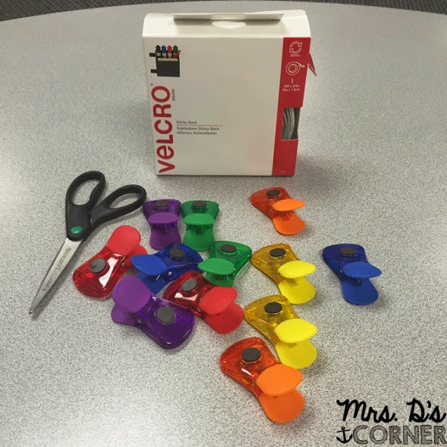 Color coded classroom. Color coding technology and keeping everything organized. Hang your headphones using color coded clips anywhere in your classroom that's easily accessible for all students. Blog post at Mrs. D's Corner.