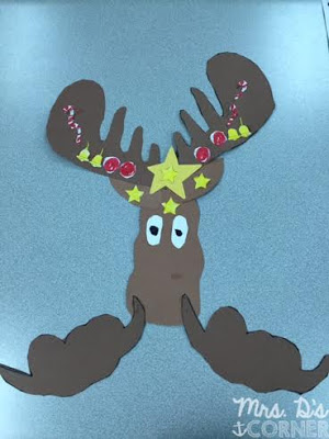 Mooseltoe craft is perfect for the december read aloud.
