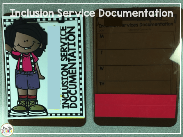 inclusion documentation forms