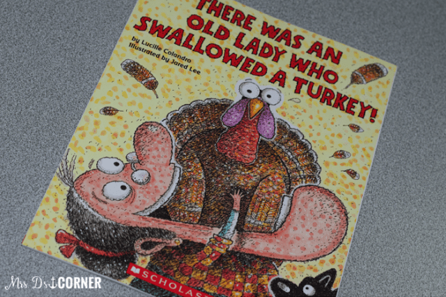 There was an old lady who swallowed a turkey is a great november read aloud