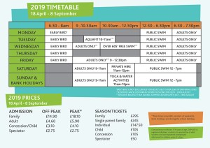 Chippy Lido Timetable