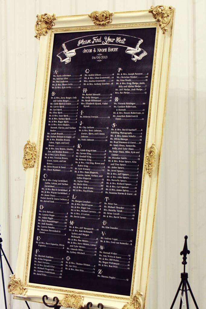 Chalkboard Seating Chart Mrs Fancee