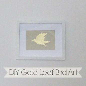 DIY gold leaf birda rt