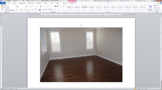 room layout in word and paint 1