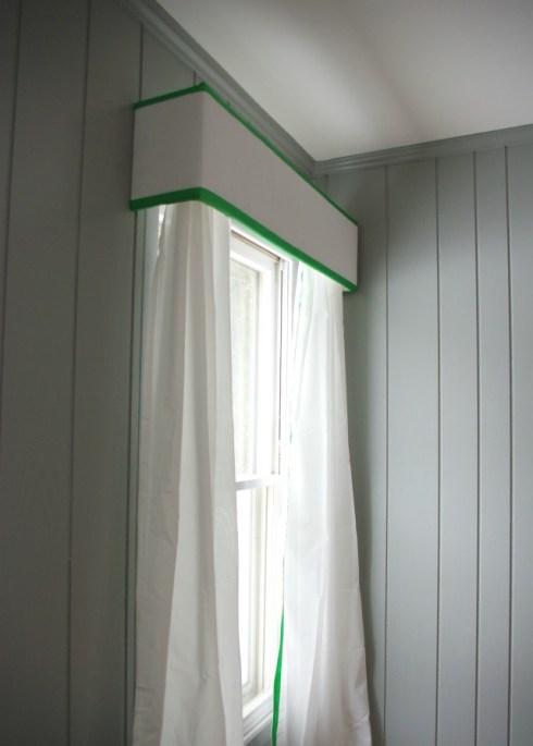 pelmet box curtains DIY | Mrs. Fancee