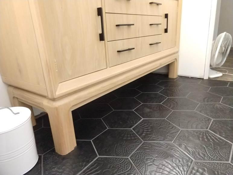Tile Trend Black Hexagon Tile Floors Mrs Fancee