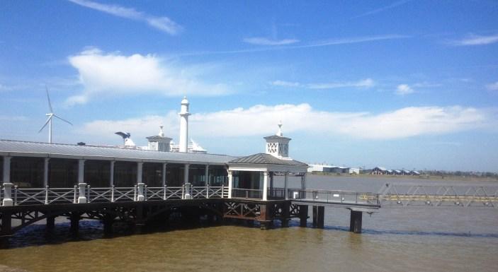 Cast Iron Pier and Riva Restaurant