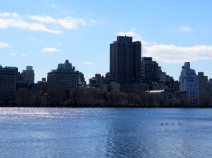 Looking east across the reservoir.