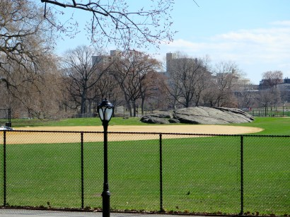 Why yes, there are actual ball fields in Central Park.