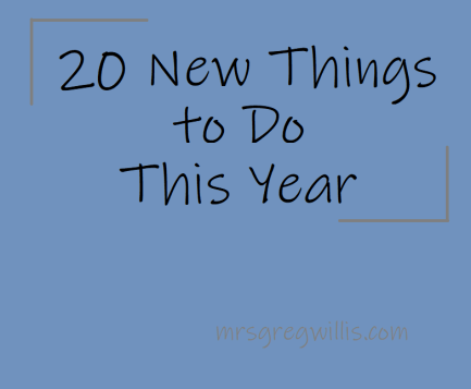 New Things to do This Year