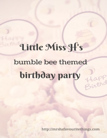 bumble bee themed birthday party