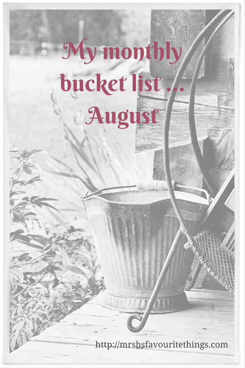 Monthly bucket list