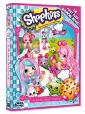 A photograph of the DVD cover of SHOPKINS: CHEF CLUB_ a brightly coloured animation many characters from the show_SHOPKINS: CHEF CLUB - a review - Mrs H's favourite things