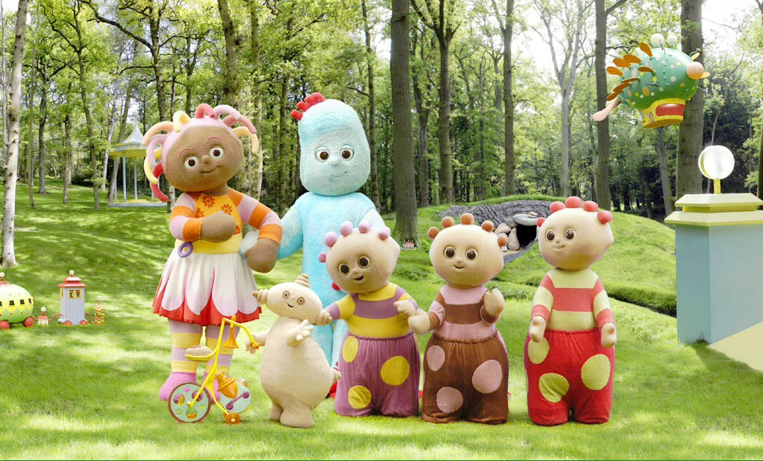 A still from the children's TV programme In the Night Garden featuring IgglePiggle, Makka Pakka, Upsy Daisy and the Tombliboos - Win tickets to In the Night Garden Live - Mrs H's favourite things