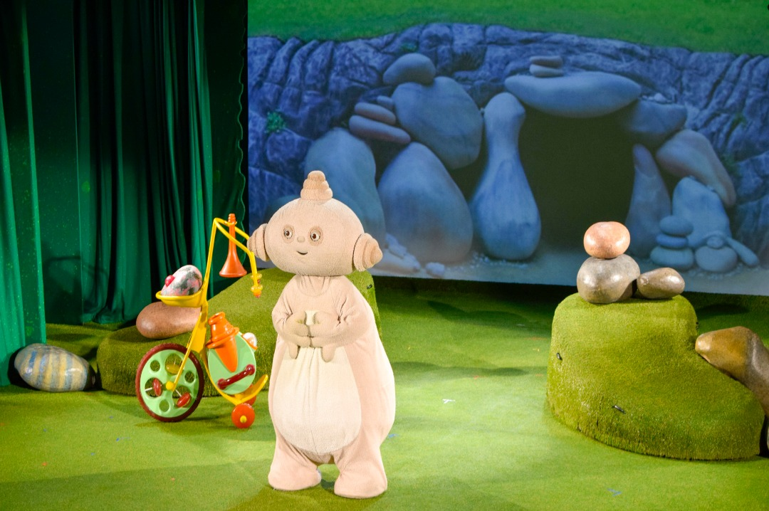 "A photograph of Makka Pakka from the Pinky Ponk production of In the Night Garden Live - photograph from the post ""In the Night Garden Live - a review"" by Mrs H's favourite things"