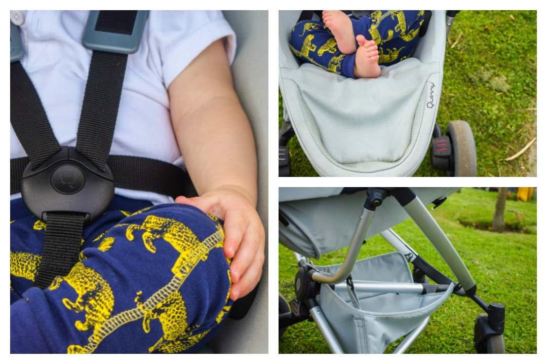 Three close up photographs of a baby boy in a Quinny Zapp Flex Plus in Frost on Grey - A Day at Dover Castle with the Quinny Zapp Flex Plus - Mrs H's favourite things