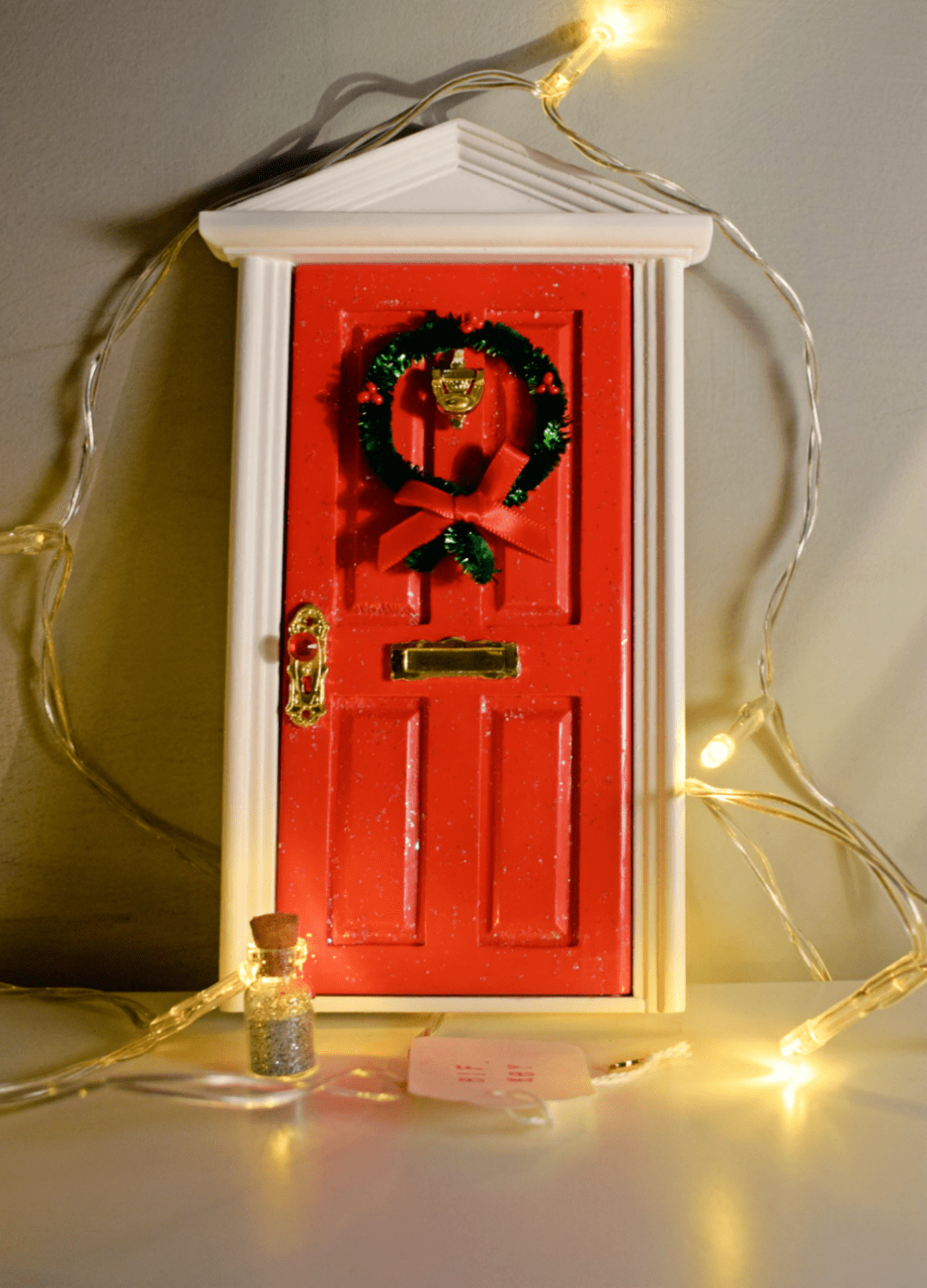 Flitterbee opening christmas elf door with santa workshop for The magic elf door