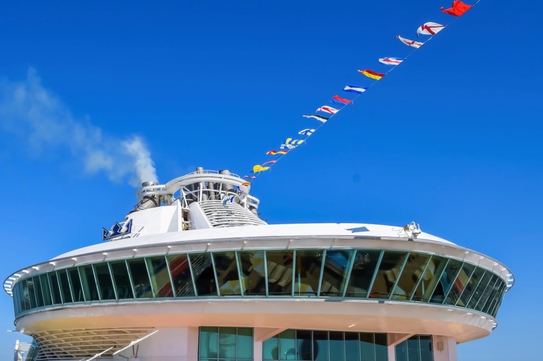 A photograph of the control tower of the Royal Caribbean Cruise Ship Independence of the Seas - 10 Reasons Why A Royal Caribbean Cruise Would Make A Perfect Family Holiday - Mrs H's favourite things