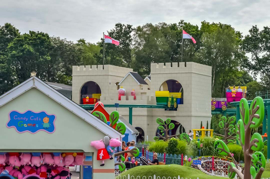 A photograph of the Queen's castle in Peppa Pig World at Paultons Park and Peppa Pig World - A Review - Mrs H's favourite things