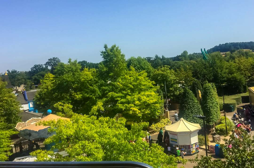 A photograph of the view from the Aero Nomad ride at at LEGOLAND Windsor Resort - A Review - Mrs H's favourite things