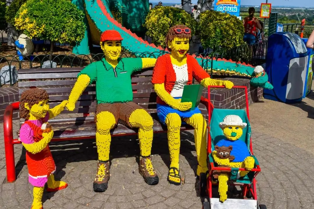 A photograph of a family made from LEGO at LEGOLAND® Windsor Resort - LEGOLAND® Windsor Resort - A Review - Mrs H's favourite things