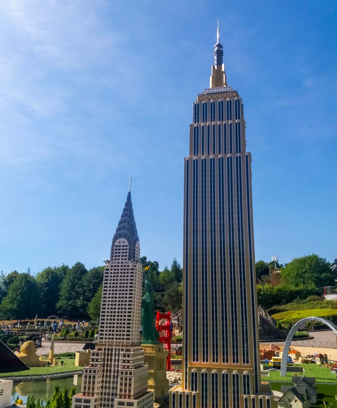 A photograph of Chrysler and Empire State Building in Miniland at LEGOLAND Windsor Resort - LEGOLAND Windsor Resort - A Review - Mrs H's favourite things
