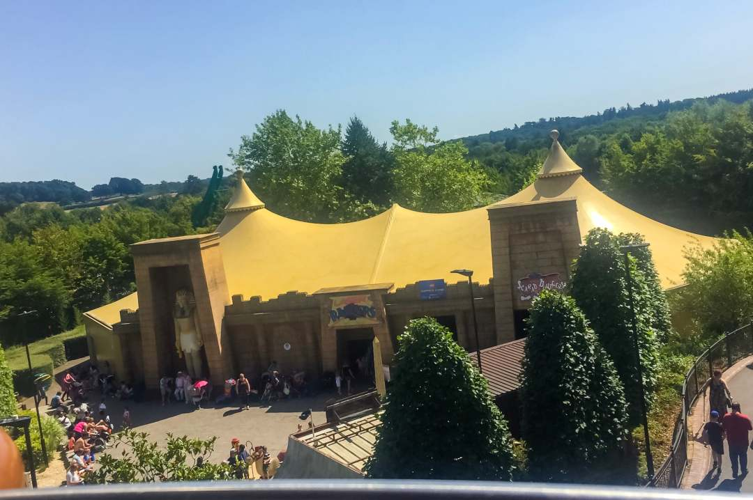 A photograph of the view from the Aerial Nomad ride at at LEGOLAND Windsor Resort - A Review - Mrs H's favourite things
