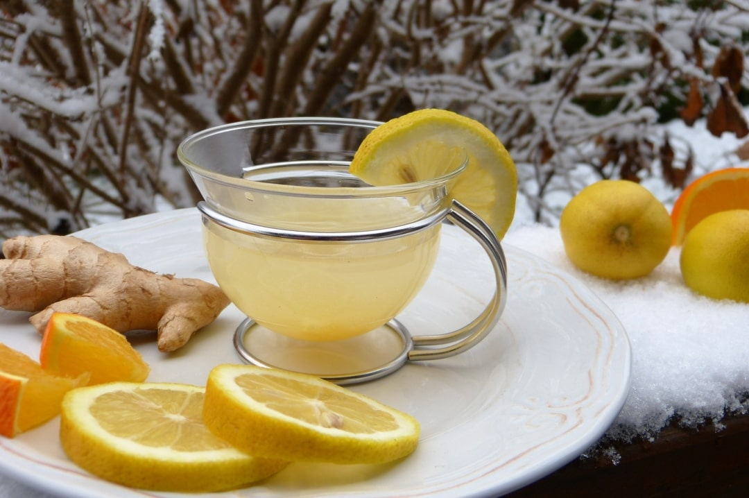 A photograph of a cup of hot water and lemon - Taking Care Of Your Health During The Colder Months - Mrs H's favourite things