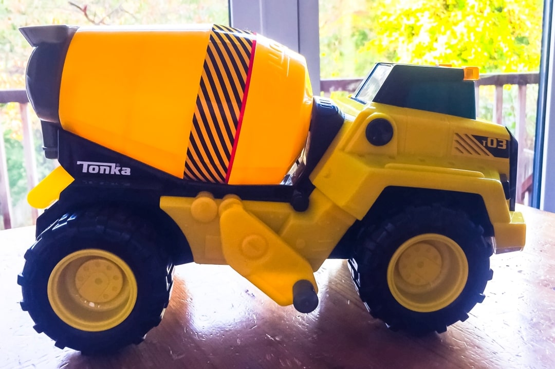 A photograph of the Tonka Power Movers Cement Mixer from the Tonka Power Movers Vehicles collection - Tonka Power Movers Vehicles - A Review - Mrs H's favourite things