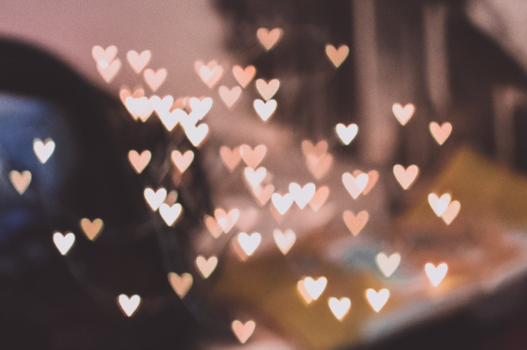 A photograph of heart bokeh - How Expressing Your Thoughts Could Be Part Of Your Life - Mrs H's favourite things