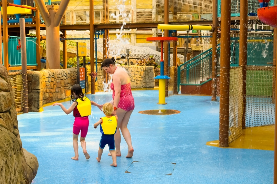 A photograph of a mother and her son and daughter at Splash Landings in Alton Towers - Swimming With Konfidence At Splash Landings - Mrs H's favourite things