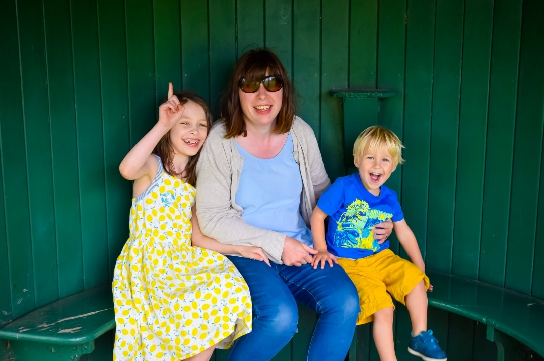 A photograph of a mother, her son and her daughter - Snapshots Of Our Summer - Mrs H's favourite things