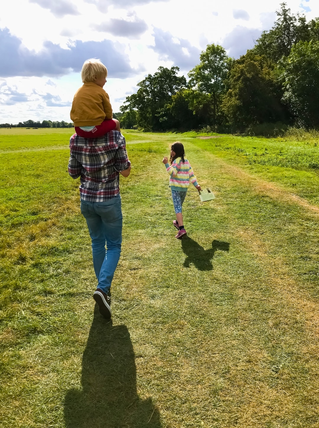 A photograph of a man, his son and his daughter at Runnymede - Snapshots Of Our Summer - Mrs H's favourite things