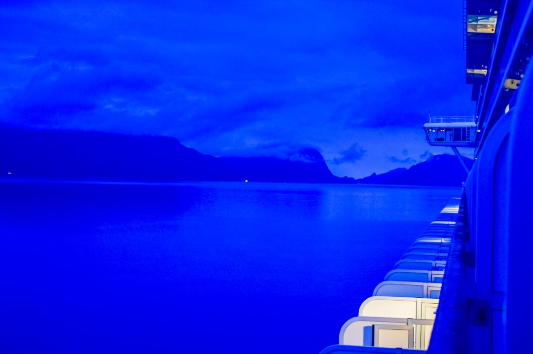 A photograph of the sea at dusk taken aboard the P&O Cruises ship Azura - Snapshots Of Our Summer - Mrs H's favourite things