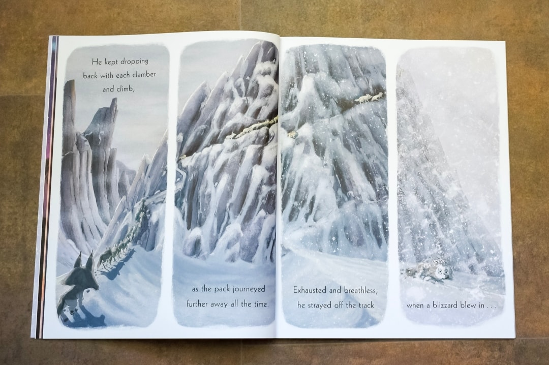 A photograph of one of the double spreads in the children's book The Way Home For Wolf by Rachel Bright and Jim Field - The Way Home For Wolf By Rachel Bright And Jim Field - A Review - Mrs H's favourite things
