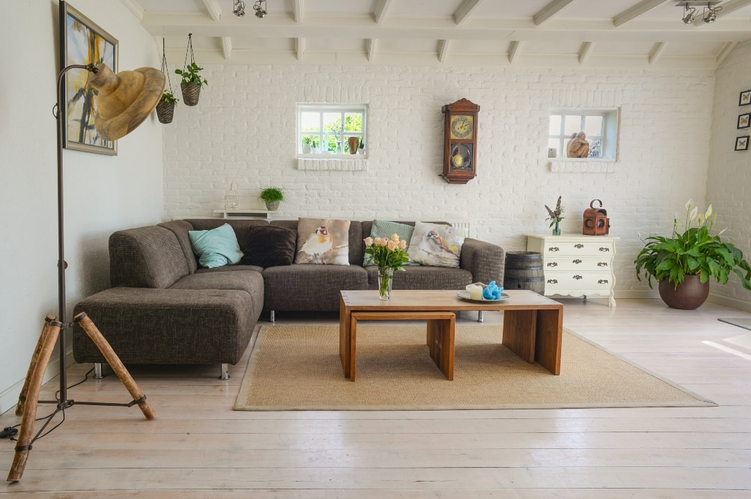 A photograph of a clean and clutter free living room - Creating A Home Which Is Better For Your Mental Health - Mrs H's favourite things
