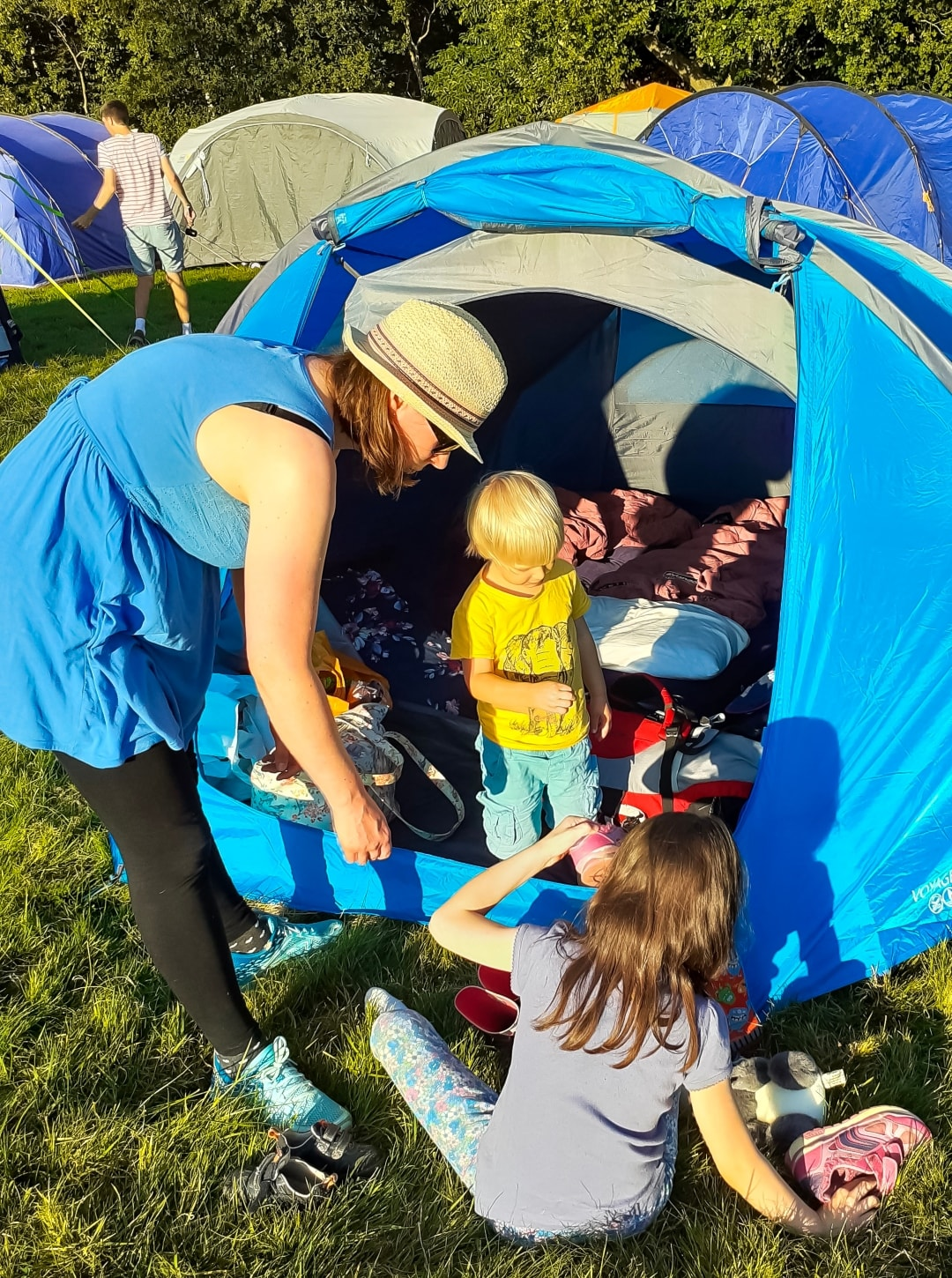 A photograph of a set up tent at Into The Trees festival 2019 - Into The Trees 2019 - An idyllic family festival - Mrs H's favourite things