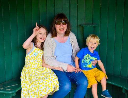A photograph of a mother, her son and her daughter at Smallhythe Place - Taking A Break From Blogging - Mrs H's favourite things