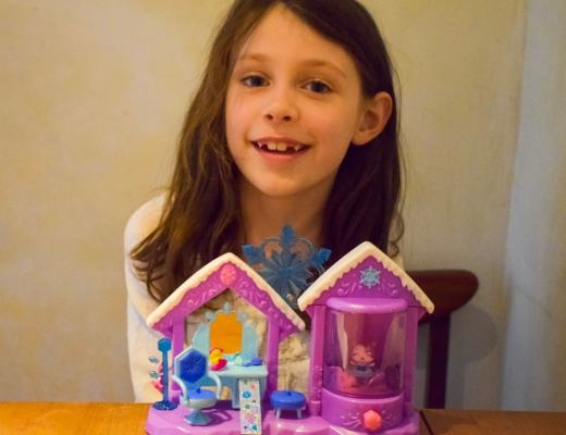 A photograph of a little girl with the Hatchimals CollEGGtibles Glitter Salon Playset - Hatchimals CollEGGtibles Glitter Salon Playset - A Review - AD - Mrs H's favourite things