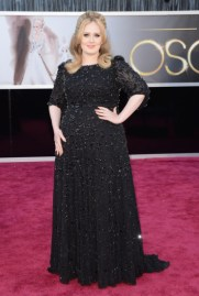 Adele in Jenny Packham dress at the Oscars 2013