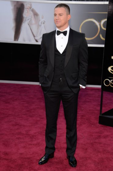 Channing Tatum in Gucci at the Oscars 2013