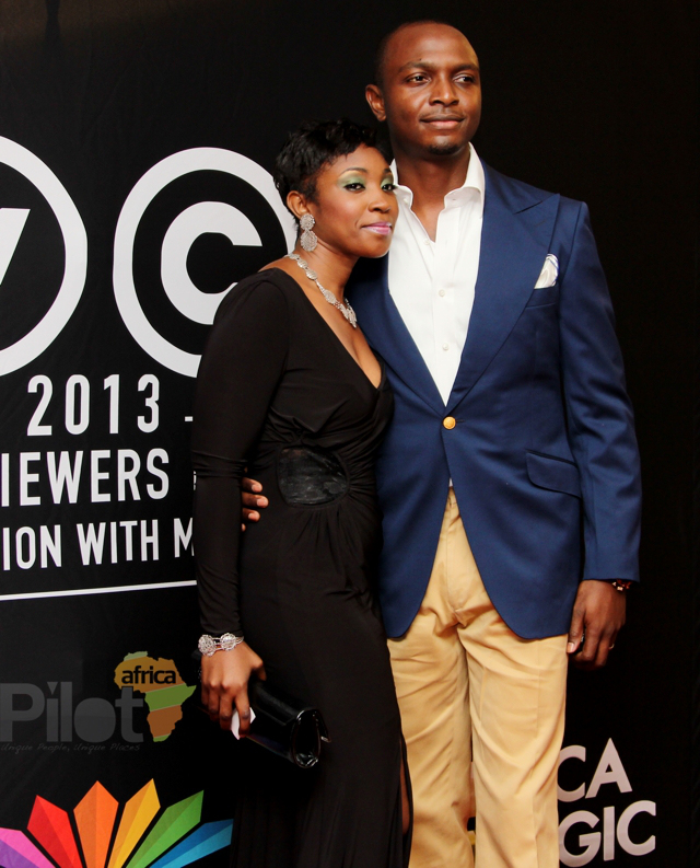 Hosts of the AMVCA IK and Vimbai