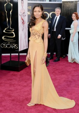 Naomie Harris in Vivienne Westwood dress at the Oscars 2013