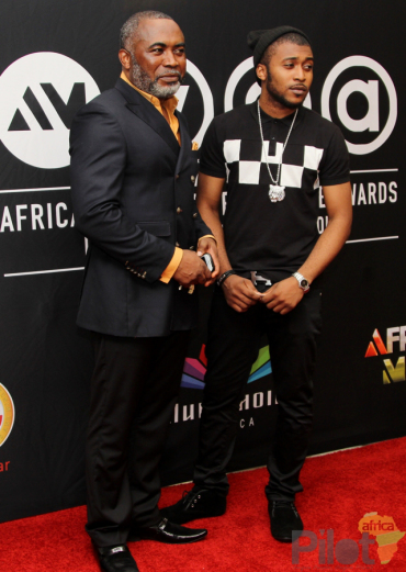 Zack Orji & son at AMVCA 2013